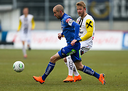 03.03.2018, TGW Arena, Pasching, AUT, 1. FBL, LASK Linz vs SK Puntigamer Sturm Graz, 25. Runde, im Bild v.l. Fabian Koch (SK Puntigamer Sturm Graz), Alexander Riemann (LASK Linz) // during the Austrian Football Bundesliga 25th Round match between LASK Linz und SK Puntigamer Sturm Graz at the TGW Arena in Pasching, Austria on 2018/03/03. EXPA Pictures © 2018, PhotoCredit: EXPA/ Roland Hackl