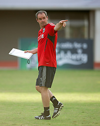 SINGAPORE, SINGAPORE - Sunday, July 17, 2011: Liverpool's assistant manager Steve Clarke during an exhibition training session at the Bishan Stadium in Singapore on day seven of the club's preseason Asia Tour. (Photo by David Rawcliffe/Propaganda)