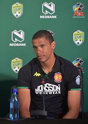 SOUTH AFRICA: JOHANNESBURG: Highlands Park defender Bevan Fransman speak during the Nedbank cup press conference, Gauteng.<br /> Picture: Itumeleng English/African News Agency(ANA)<br />23.01.2019