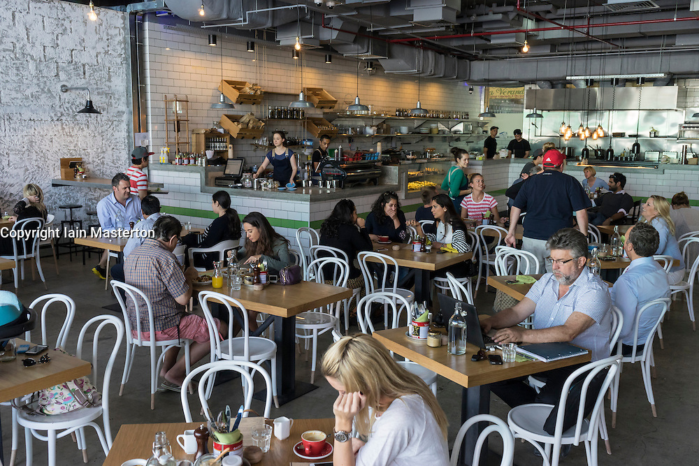 Interior of new tom and Serg cafe in Al Quoz district in Dubai United Arab Emirates
