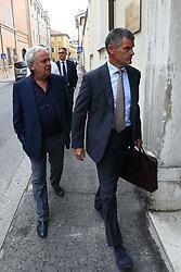 SPAL CON PRESIDENTE WALTER MATTIOLI E ANDREA GAZZOLI ARRIVA IN TRIBUNALE<br /> UDIENZA IN PROCURA CASO SEQUESTRO CURVA EST STADIO MAZZA
