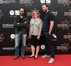 Edinburgh International Film Festival, Thursday 22nd June 2017<br /> <br /> Juror's photocall<br /> <br /> Simon El Habre, Wendy Mitchell and Ralph Ineson<br /> <br /> (c) Alex Todd | Edinburgh Elite media