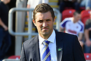 Shrewsbury Town manager  Sam Ricketts during the EFL Sky Bet League 1 match between Rotherham United and Shrewsbury Town at the AESSEAL New York Stadium, Rotherham, England on 21 September 2019.