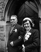 1953 - Wedding of John Brady and May Ball at the Church of the Sacred Heart, Donnybrook