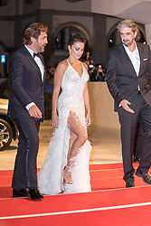 Director Fernando Leon de Aranoa , Spanish actor Javier Bardem and Spanish actress Penelope Cruz attend the premiere of the movie 'Loving Pablo' presented out of competition at the 74th Venice Film Festival on September 6, 2017 at Venice Lido. 06 Sep 2017 Pictured: Javier Bardem, Penelope Cruz. Photo credit: Fernanda Bareggi / MEGA TheMegaAgency.com +1 888 505 6342