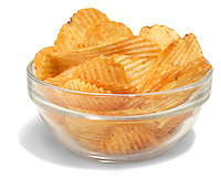 kc master ruffles potato chips in a bowl