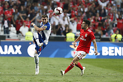 October 7, 2018 - Lisbon, Portugal - Hector Herrera of Porto (L) vies for the ball with Pizzi of Benfica (R)  during the Portuguese League football match between SL Benfica and FC Porto at Luz Stadium in Lisbon on October 7, 2018. (Credit Image: © Carlos Palma/NurPhoto/ZUMA Press)