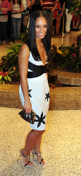 Alicia Keys arrives for the White House Correspondents Dinner in Washington, DC