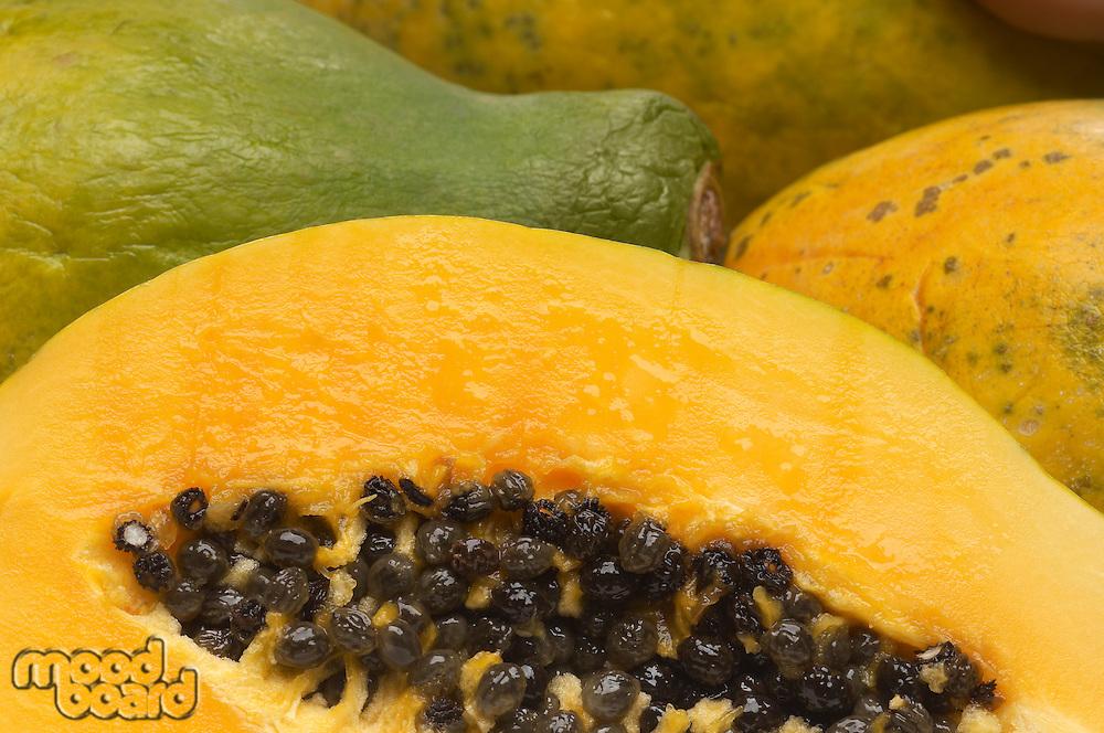 Papaya, close-up