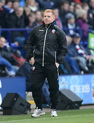 Bolton Wanderers Manager, Neil Lennon looks on - Photo mandatory by-line: Richard Martin-Roberts/JMP - Mobile: 07966 386802 - 14/02/2015 - SPORT - Football - Bolton - Macron Stadium - Bolton Wanderers v Watford - Sky Bet Championship