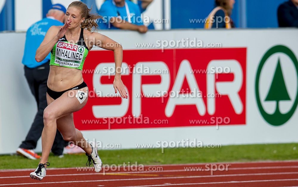 Maja Mihalinec SLO 200m competes on day one of The 23rd European Athletics Championships at Olympic Stadium on July 6, 2016 in Amsterdam, Netherlands. Photo by Ronald Hoogendoorn / Sportida