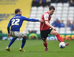 Birmingham City's Andrew Shinnie fails to challenge Rotherham United's Richard Smallwood - Photo mandatory by-line: Paul Knight/JMP - Mobile: 07966 386802 - 03/04/2015 - SPORT - Football - Birmingham - St Andrew's Stadium - Birmingham City v Rotherham United - Sky Bet Championship