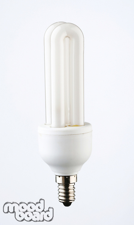 Energy saver light bulb on white background