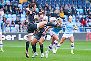 Manchester City Women defender Aoife Mannion (2) takes a foot to the face during the FA Women's Super League match between Manchester City Women and BIrmingham City Women at the Sport City Academy Stadium, Manchester, United Kingdom on 12 October 2019.