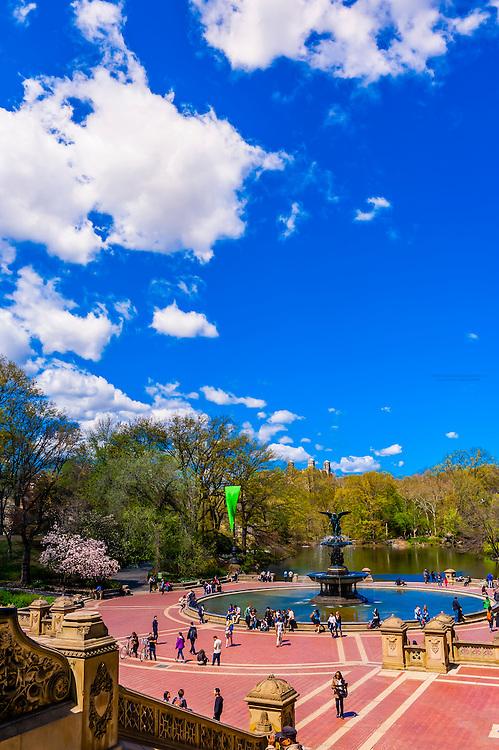 Bethesda Fountain, Central Park, New York, New York USA.