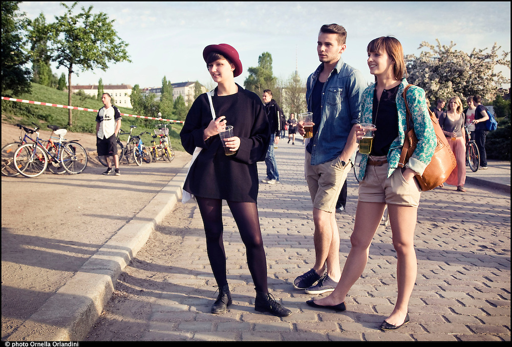Berlin, may, 2012. Street portrait from Berlin. People at Mauerpark.