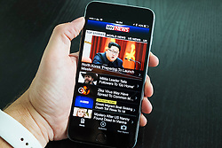 SKY news online news app on iPhone 6 plus smart phone