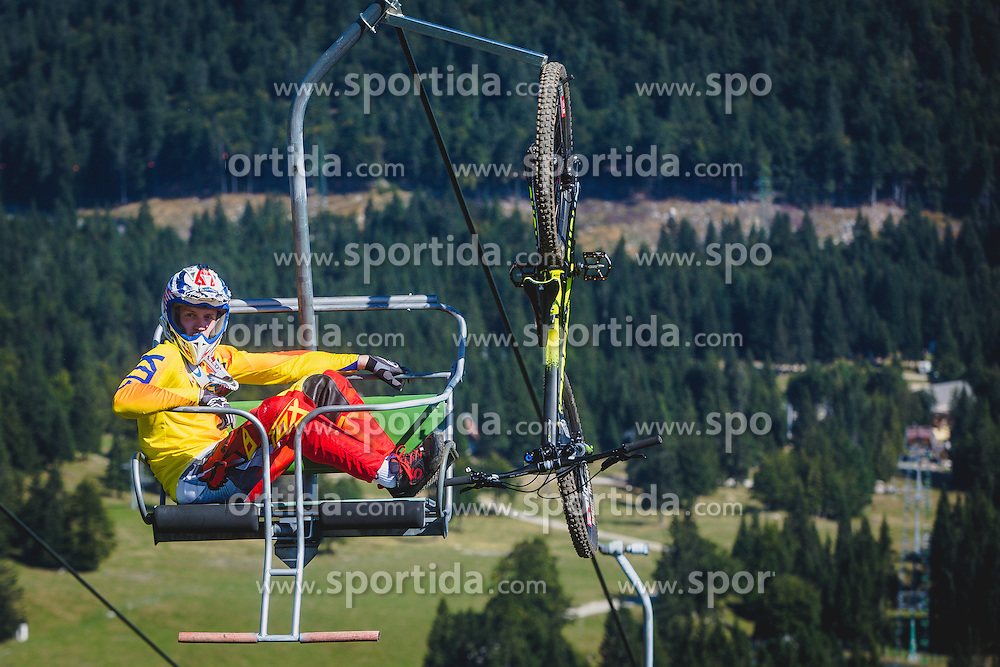 Downhill competition Sorca 2015 at Smucarski center Soriska Planina, Slovenia. Photo by Grega Valancic / Sportida