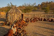 Himba village, Kaokoveld, Namibia, Africa