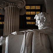 WASHINGTON, DC - FEB11: The Lincoln Memorial, which needs repairs, February 11, 2016. The memorial is going to be repaired and refurbished with the help of a gift from David Rubenstein, who is giving $18.5 million to the National Park Service to refurbish the Lincoln Memorial. (Photo by Evelyn Hockstein/For The Washington Post)