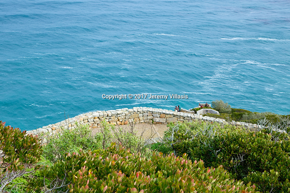 Foot path and lookout terrace at Cape Point in South Africa.