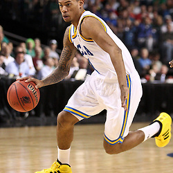 Mar 17, 2011; Tampa, FL, USA; UCLA Bruins guard Tyler Lamb (1) during the second half of the second round of the 2011 NCAA men's basketball tournament against the Michigan State Spartans at the St. Pete Times Forum. UCLA defeated Michigan State 78-76.  Mandatory Credit: Derick E. Hingle
