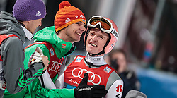 06.01.2016, Paul Ausserleitner Schanze, Bischofshofen, AUT, FIS Weltcup Ski Sprung, Vierschanzentournee, Bischofshofen, XXX, im Bild v.l.: Andreas Wellinger (GER), Andreas Wank (GER) jubeln mit Severin Freund (GER) // f.l.: Andreas Wellinger of Germany Andreas Wank of Germany celebrate with Severin Freund of Germany after his final jump of the Four Hills Tournament of FIS Ski Jumping World Cup at the Paul Ausserleitner Schanze in Bischofshofen, Austria on 2016/01/06. EXPA Pictures © 2016, PhotoCredit: EXPA/ JFK