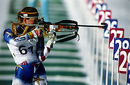 Women's biathlon competition at the 1994 Winter Olympics Games in Liillehammer, Norway.