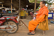 15 MARCH 2006 - PEAM CHIHYKAUNG, KAMPONG CHAM, CAMBODIA: A Buddhist monk in the small village of Peam Chihykaung in central Cambodia. The village has its own Buddhist monastery.  Photo by Jack Kurtz / ZUMA Press