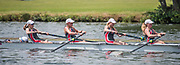 Henley. Berks, United Kingdom. <br /> <br /> St Paul's School Juniors women's JW4+, competing at the 2017 Henley' Women's Regatta. Rowing on, Henley Reach. River Thames. <br /> <br /> <br /> Sunday  18/06/2017<br /> <br /> <br /> [Mandatory Credit Peter SPURRIER/Intersport Images]