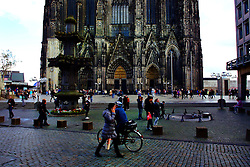 An average of 20,000 people a day visit the Cologne Cathedral.