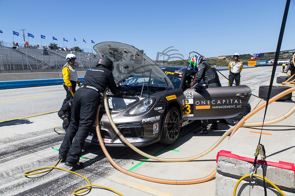 Salinas, CA - Apr 30, 2016:  The Continental Tire Sports Car Challenge teams take to the track for the Continental Tire Challenge at Mazda Raceway in Salinas, CA.