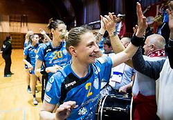 Tamara Georgijev of RK Krim Mercator celebrates after the handball match between RK Krim Mercator and ZRK Z'Dezele Celje in Last Round of Slovenian National Championship 2016/17, on April 18, 2017 in Arena Galjevica, Ljubljana, Slovenia. Photo by Vid Ponikvar / Sportida