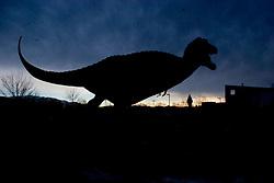 A Tyrannosaurus Rex statue in Albuquerque, NM.<br />