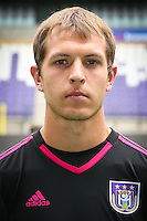 Anderlecht's goalkeeper Davy Roef pictured during the 2015-2016 season photo shoot of Belgian first league soccer team RSC Anderlecht, Tuesday 14 July 2015 in Brussels.