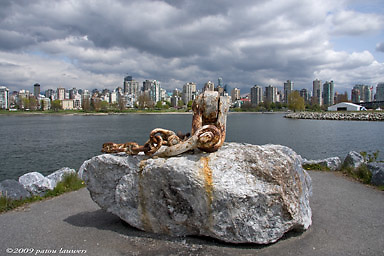 Kitsilano Point, Vancouver on a cloudy day
