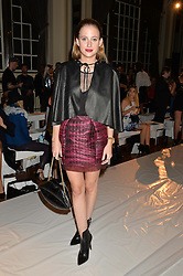 ROSIE FORTESCUE at the Gyunel Spring Summer 2015 fashion show as part of London Fashion week 2015 held at Victoria House, Bloomsbury Square, London on 12th September 2014.