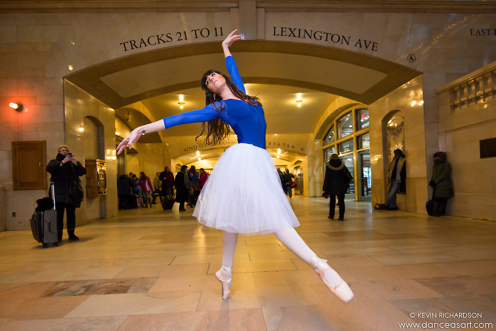 Patricia McTigue Ballerina Grand Central Terminal Dance As Art Photography