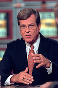 Senate Majority Leader Trent Lott discusses the ongoing Lewinsky scandal September 6, 1998 during NBC's Meet the Press in Washington, DC.