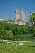 The Lake and San Remo apartments, Central Park, Manhattan,New York,U.S.A.,