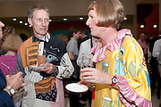 PHILIP MILES; GRAYSON PERRY, Tate Britain Summer party. Tate. Millbank. 27 June 2011. <br /> <br />  , -DO NOT ARCHIVE-© Copyright Photograph by Dafydd Jones. 248 Clapham Rd. London SW9 0PZ. Tel 0207 820 0771. www.dafjones.com.
