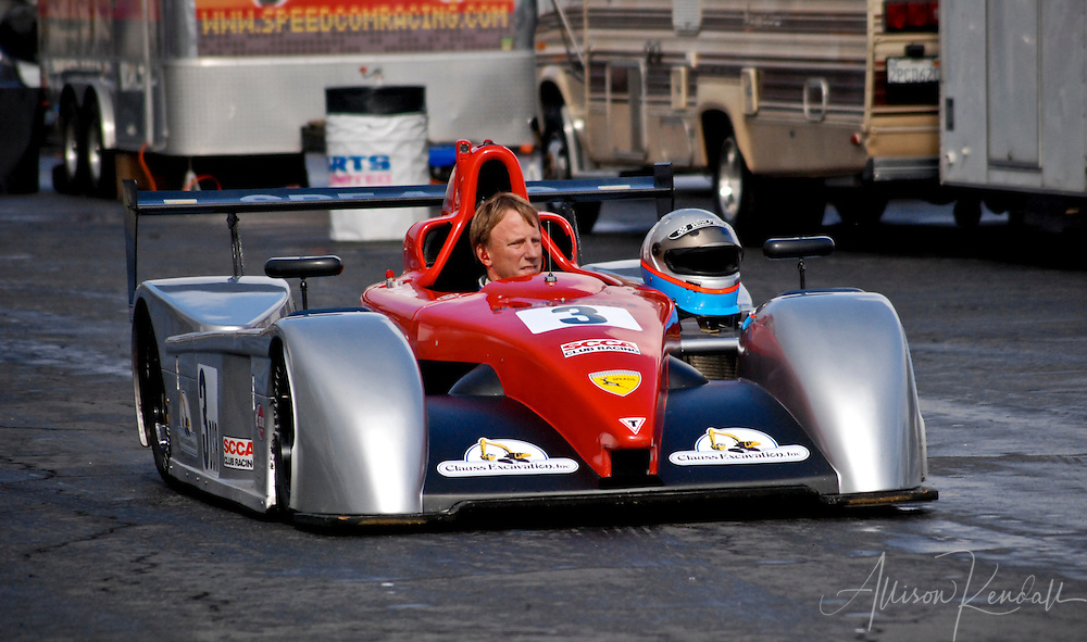 After a successful race, during an SCCA event at Laguna Seca