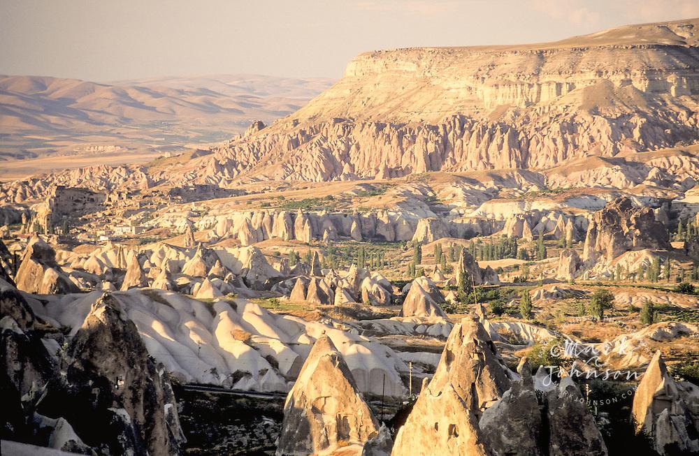 Turkey, Cappadocia, carved houses in rock pillars