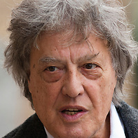 Tom Stoppard at a press conference in Rome at the India Theatre to support the Belarus Free Theatre. Photographed 11th April 2012<br /> <br /> Picture by Steve Bisgrove/Writer Pictures<br /> <br /> WORLD RIGHTS
