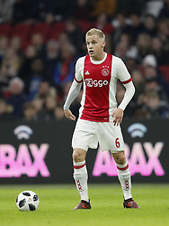 Donny van de Beek of Ajax during the international friendly match between Ajax Amsterdam and Borussia Mönchengladbach at the Amsterdam Arena on November 21, 2017 in Amsterdam, The Netherlands