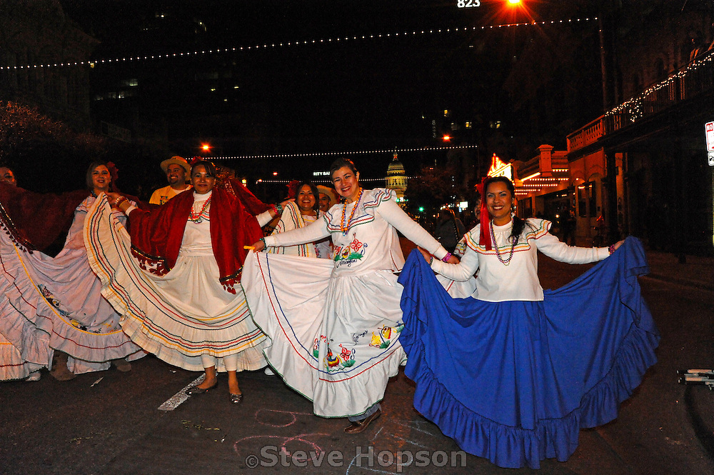 The Grand Procession on New Year's Eve in Austin Texas as part of the First Night 2009 celebration, December 31, 2008. First Night is an annual celebration of the arts  held on New Year's Eve in Austin Texas.