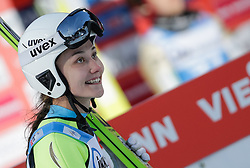 30.01.2016, Normal Hill Indiviual, Oberstdorf, GER, FIS Weltcup Ski Sprung Ladis, Bewerb, im Bild Irina Avvakumova (RUS) // Irina Avvakumova of Russian Federation reacts after her Competition Jump of FIS Ski Jumping World Cup Ladis at the Normal Hill Indiviual, Oberstdorf, Germany on 2016/01/30. EXPA Pictures © 2016, PhotoCredit: EXPA/ Peter Rinderer