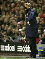 Photo: Paul Thomas.<br /> Liverpool v Arsenal. Carling Cup. 09/01/2007.<br /> <br /> Arsene Wenger, manager of Arsenal.