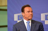 ©www.agencepeps.be/ F.Andrieu- A.Rolland / Imagebuzz.be  - Belgique -Brussels  - 130624 - Arnold Schwarzenegger Comission Européenne et shopping dans Bruxelles