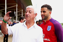 England's Kyle Walker poses for pictures with fans - Mandatory by-line: Matt McNulty/JMP - 29/08/2017 - FOOTBALL - St George's Park National Football Centre - Burton-upon-Trent, England - England Training and Press Conference